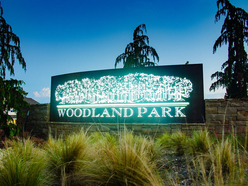 Woodland Park Entry Sign